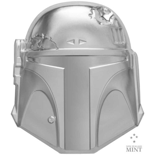 BOBA FETT HELMET 2020 Niue 2oz high relief silver coin