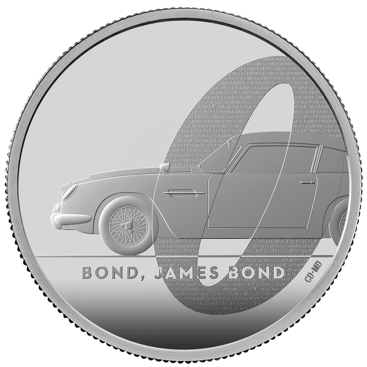 Bond, James Bond 2020 UK £1 1/2oz Silver Proof Coin