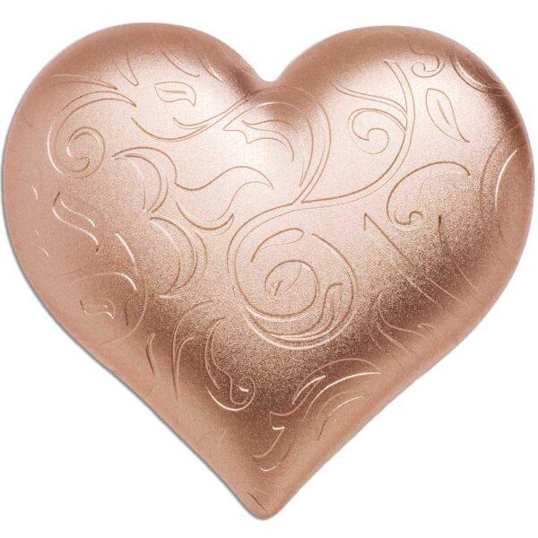 ROSY HEART 2021 - 1oz .999 silver coin
