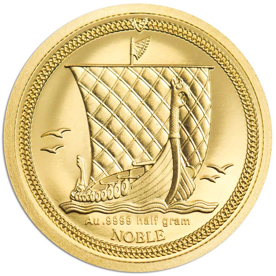 NOBLE 2020 ISLE OF MAN - 05g .9999 gold proof coin