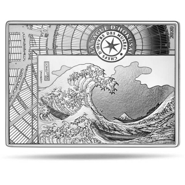 THE GREAT WAVE - HOKUSAI 2020 10€ silver proof coin