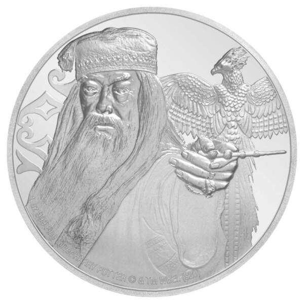 HARRY POTTER: ALBUS DUMBLEDORE 2020 Niue 1oz silver coin