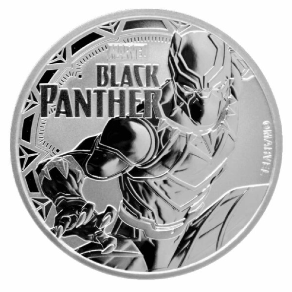 MARVEL: BLACK PANTHER - TUVALU 2018 1oz Silver BU