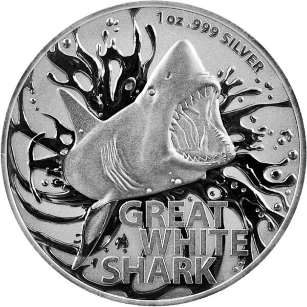 AUSTRALIA'S MOST DANGEROUS - 2021 Great White Shark 1oz Silver BU
