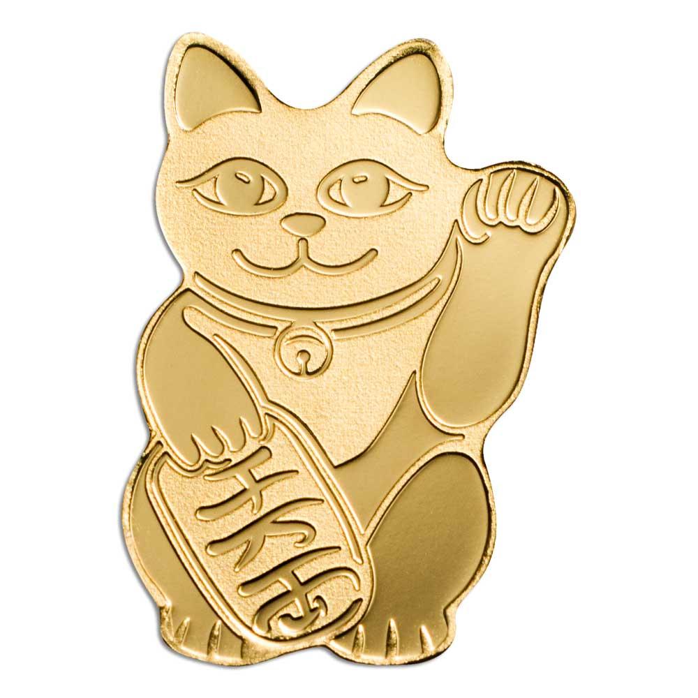 MANEKI NEKO - Palau 0.5g .9999 gold coin
