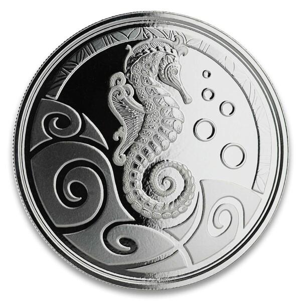 SEAHORSE 2019 Samoa 1oz silver bullion coin