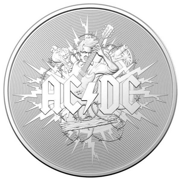 AC/DC - 2021 Australia 1oz silver frosted uncirculated coin
