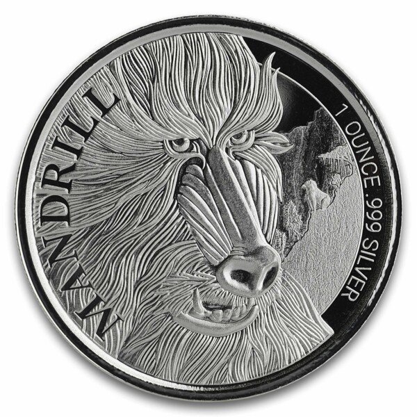 MANDRILL 2020 Cameroon 1oz Silver Bullion Coin