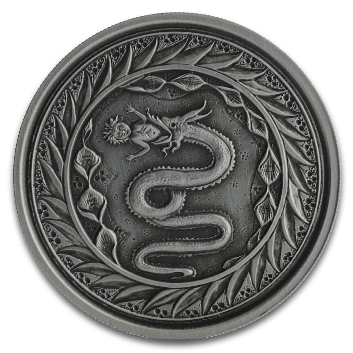 SERPENT OF MILAN 2020 Samoa 1oz Silver Antiqued Coin