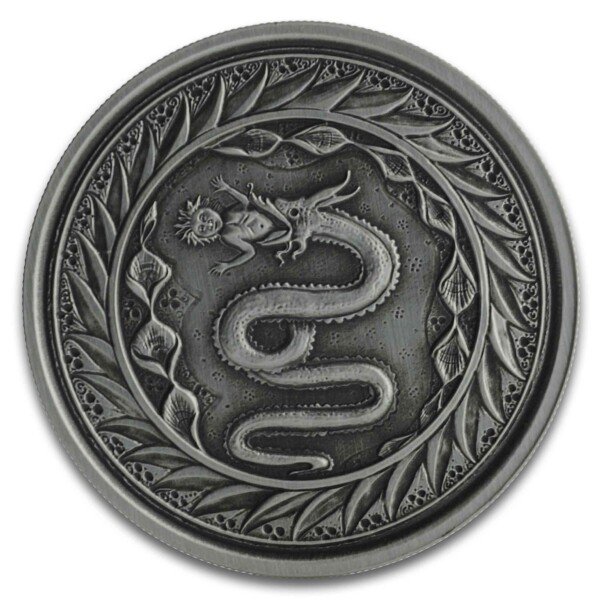 SERPENT OF MILAN 2020 Samoa 1oz Silver Antiqued Coin