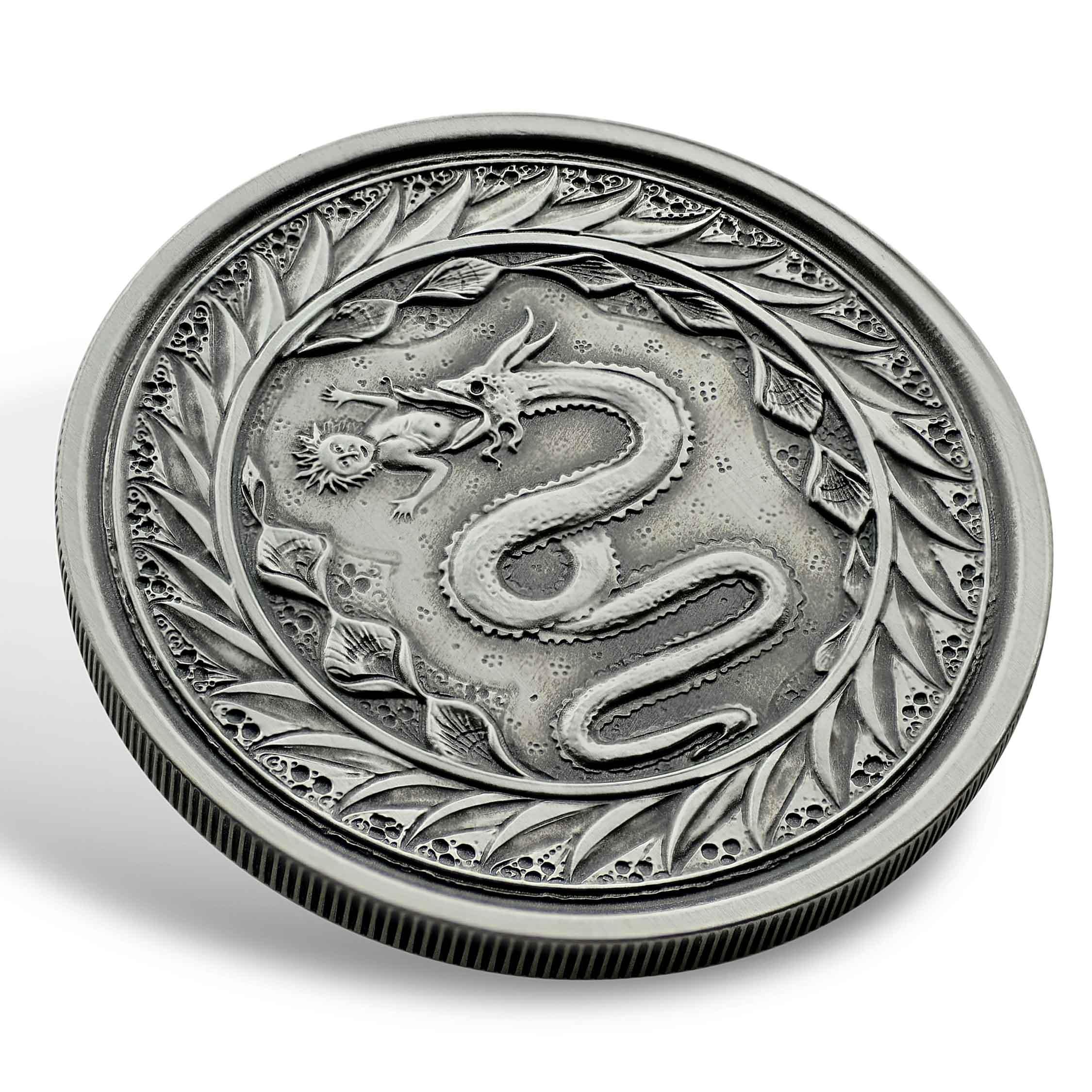 2020 Samoa Serpent of Milan Silver BU 1//2 oz