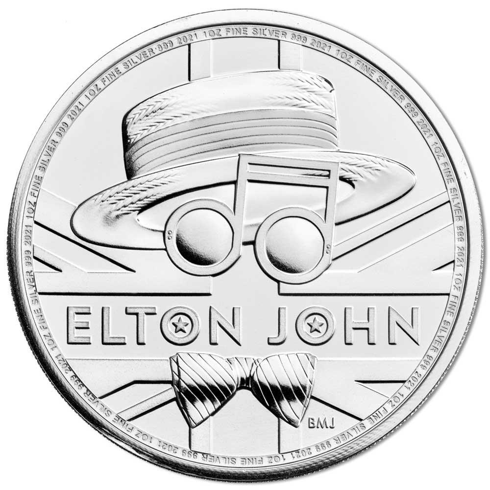 ELTON JOHN 2020 UK one ounce silver coin BU