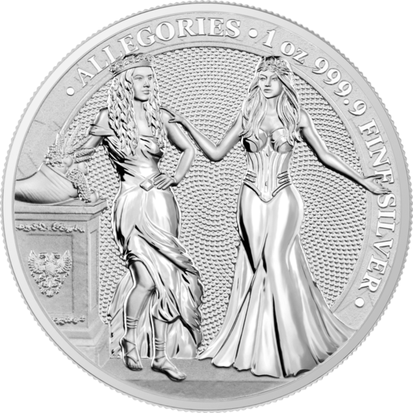 ALLEGORIES: ITALIA & GERMANIA - 2020 1 oz silver BU