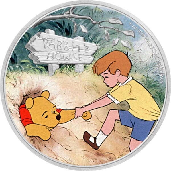 WINNIE THE POOH - POOH & CHRISTOPHER ROBIN 2020 Niue 1oz silver coin