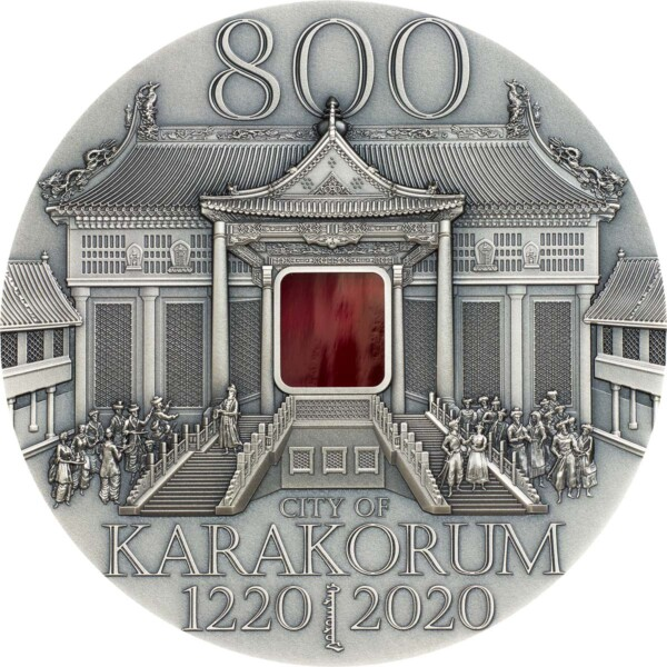 KARAKORUM 800th ANNIVERSARY 2020 Mongolia 2oz antique silver coin