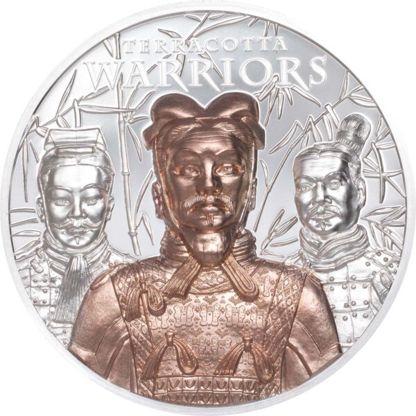 TERRACOTTA WARRIOR - 2021 Cook Islands 3oz proof silver coin