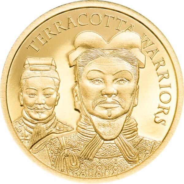 TERRACOTTA WARRIORS - 2021 Cook Islands 0.5g .9999 gold proof coin
