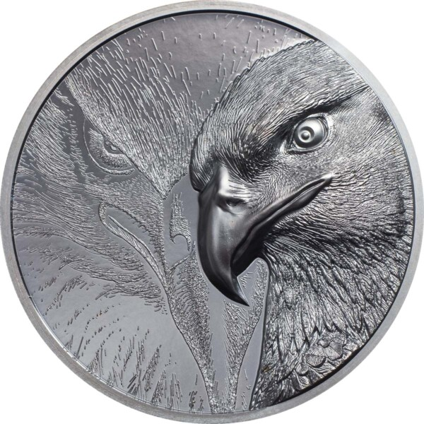MAJESTIC EAGLE 2020 Mongolia 2oz black proof silver coin