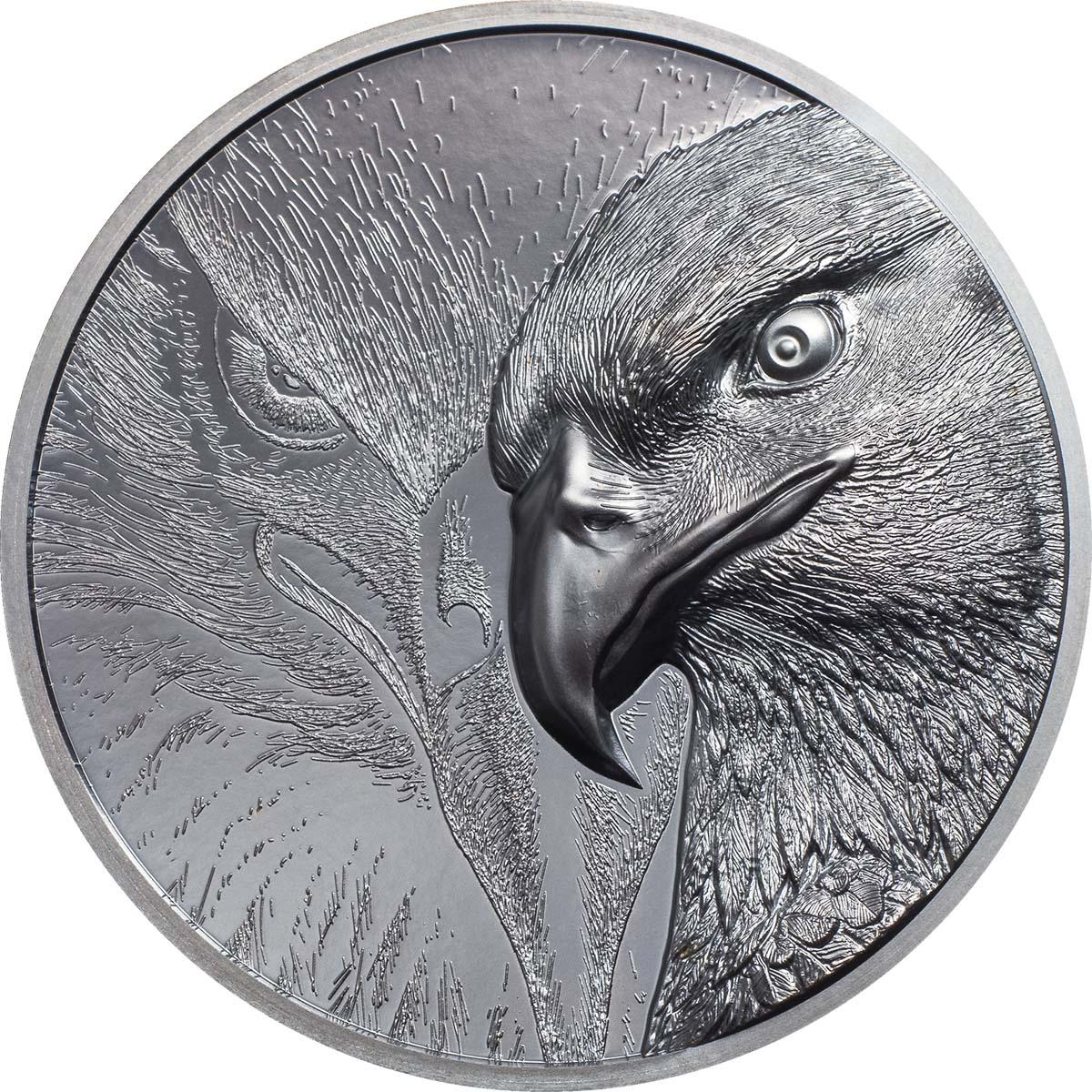 MAJESTIC EAGLE 2020 Mongolia 2oz black proof silver coin