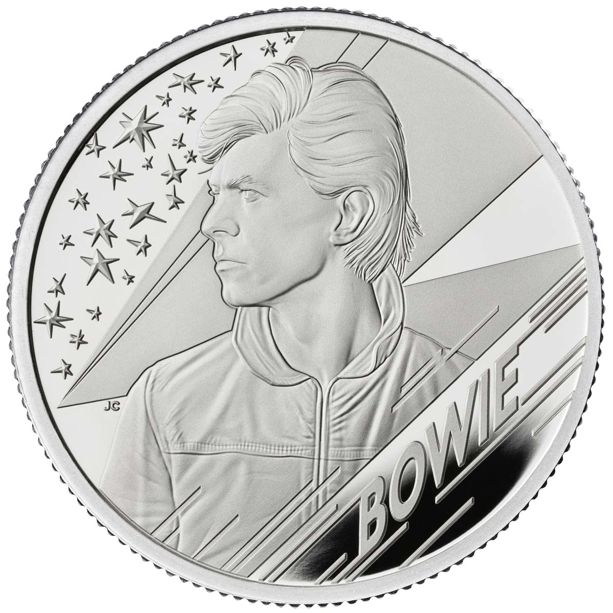 DAVID BOWIE 2020 UK two ounce silver proof coin
