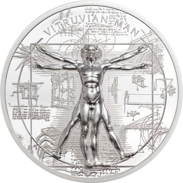 X-RAY – VITRUVIAN MAN 2021 Cook Islands 1oz proof silver coin