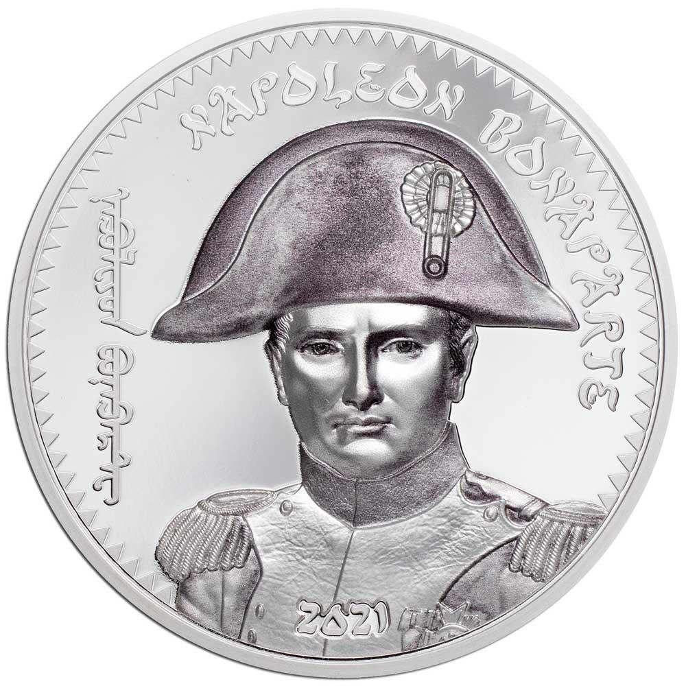 REVOLUTIONARIES: NAPOLEON BONAPARTE 2021 Mongolia 1oz silver coin