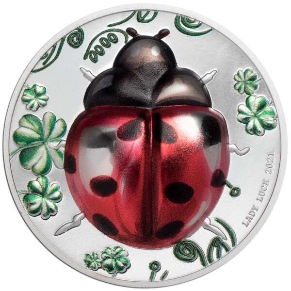 LADY LUCK – LADYBUG 2021 Palau 1oz proof silver