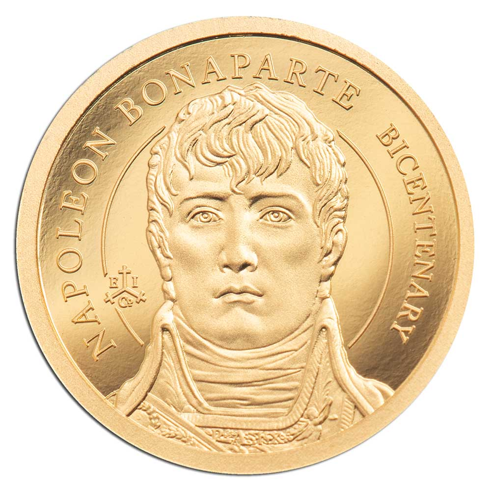 200th ANNIVERSARY NAPOLEON BONAPARTE 2021 St Helena 0.5g proof gold coin