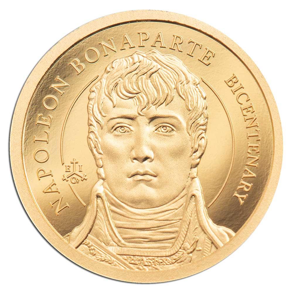 200th ANNIVERSARY NAPOLEON BONAPARTE 2021 St Helena 0.5g proof gold coin