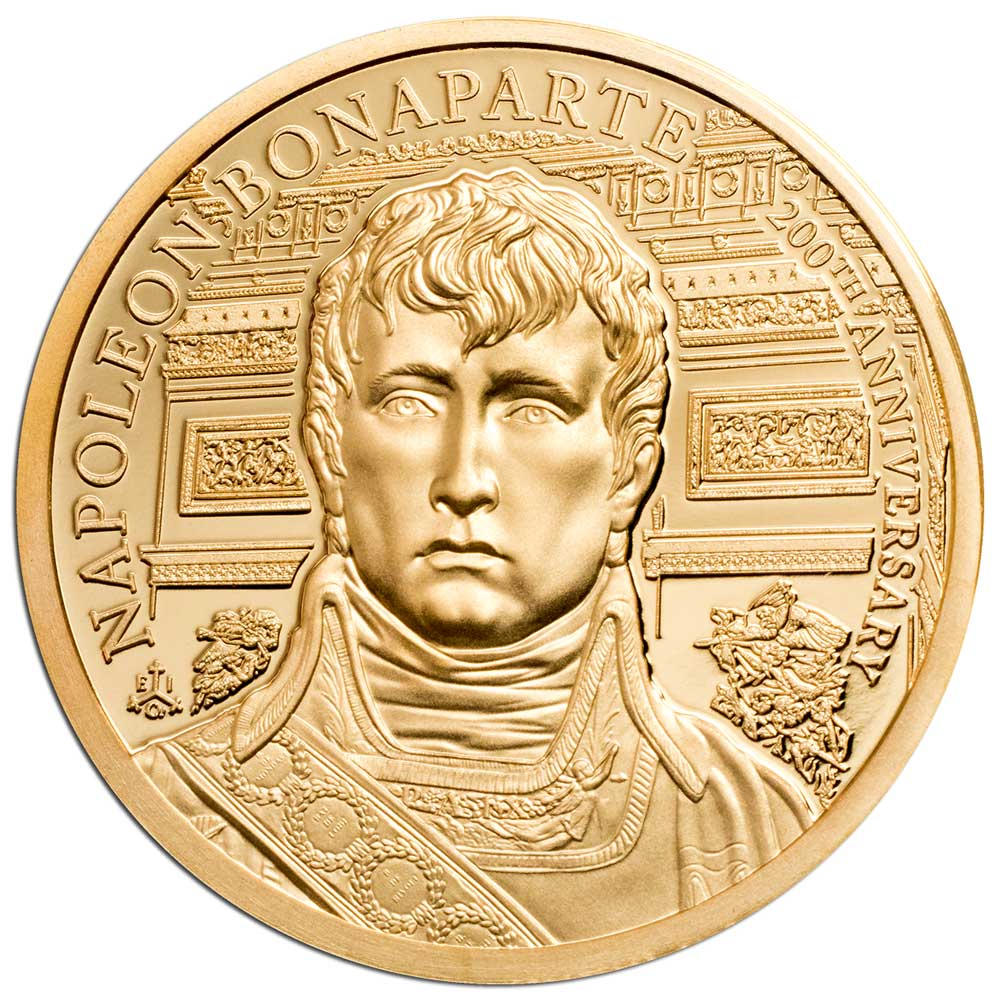 200th ANNIVERSARY NAPOLEON BONAPARTE 2021 St Helena 1/4oz gold coin