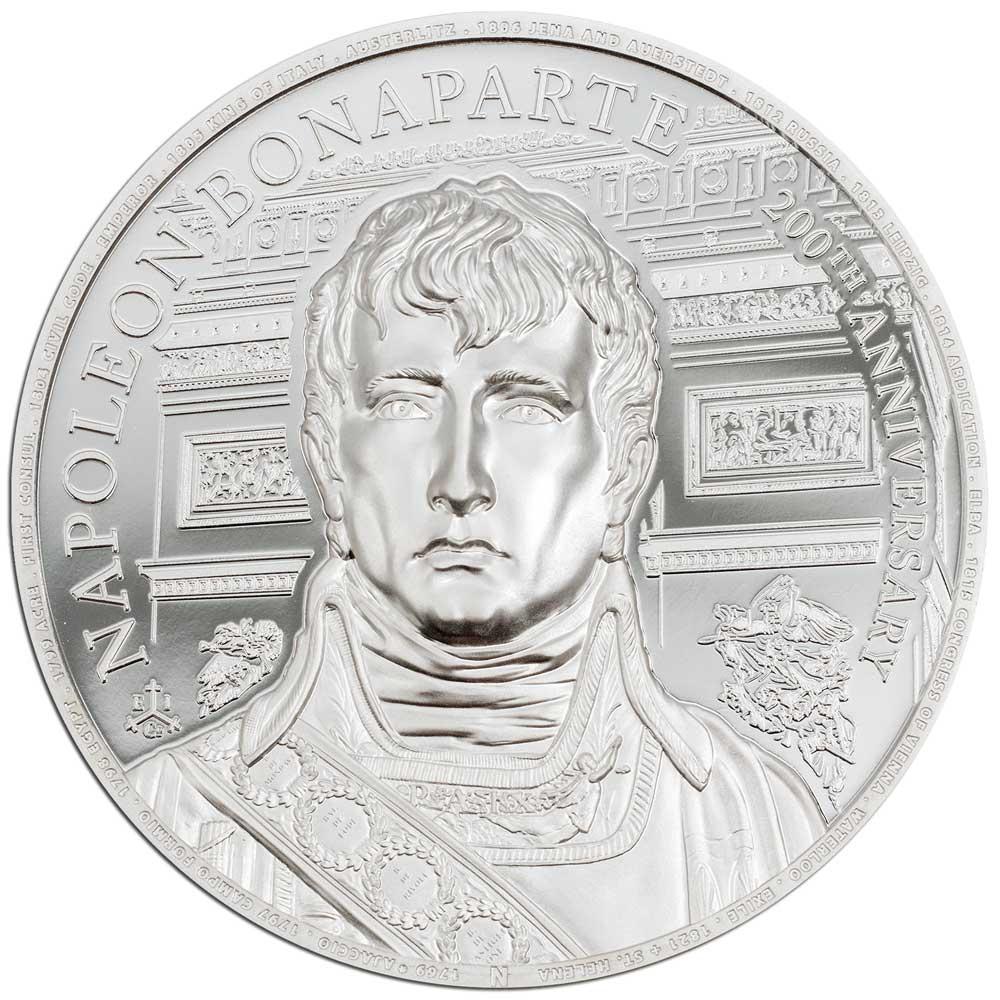 200th ANNIVERSARY NAPOLEON BONAPARTE 2021 St Helena 2oz silver coin