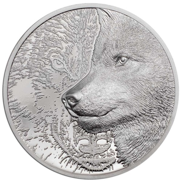 MYSTIC WOLF 2021 Mongolia 1oz proof platinum coin