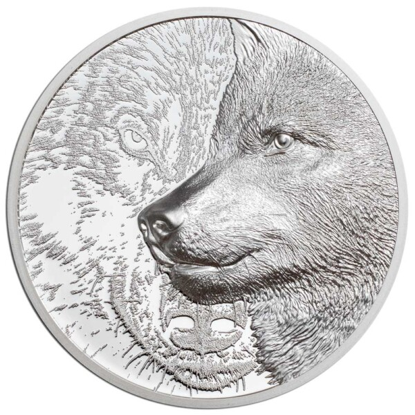 MYSTIC WOLF 2021 Mongolia 1oz proof silver coin