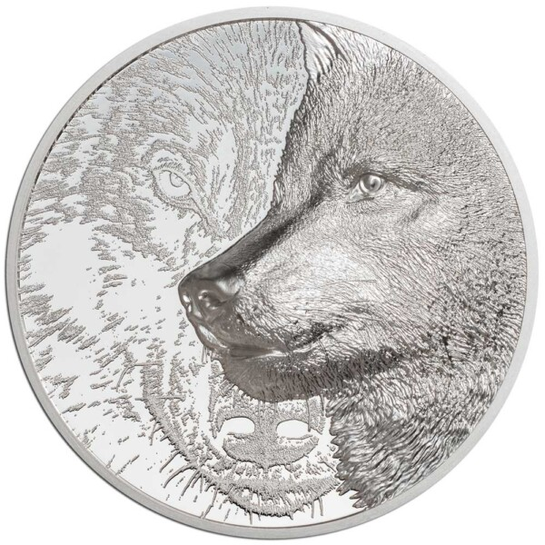 MYSTIC WOLF 2021 Mongolia 3oz proof silver coin