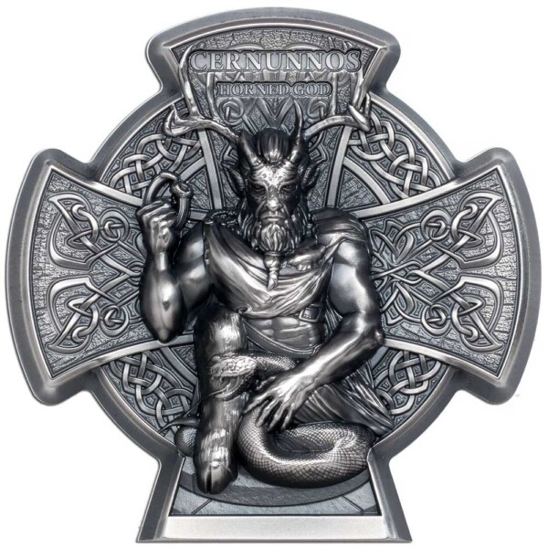 CERNUNNOS - HORNED GOD 2021 Isle of Man 3oz silver