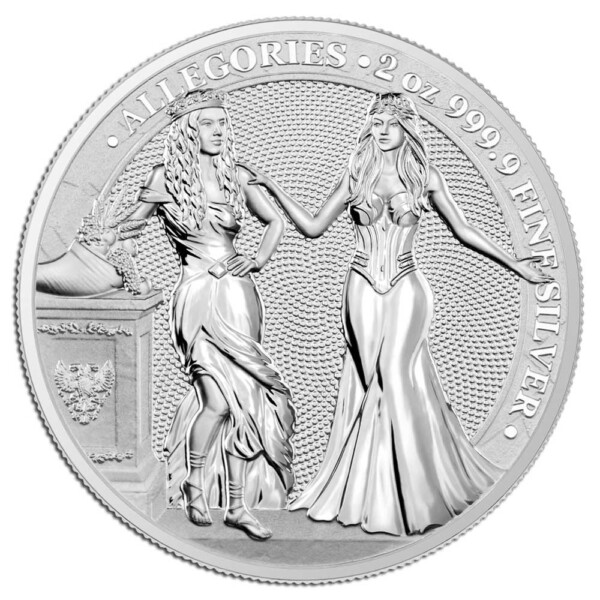 ALLEGORIES: ITALIA & GERMANIA - 2020 10 Mark 2oz silver BU