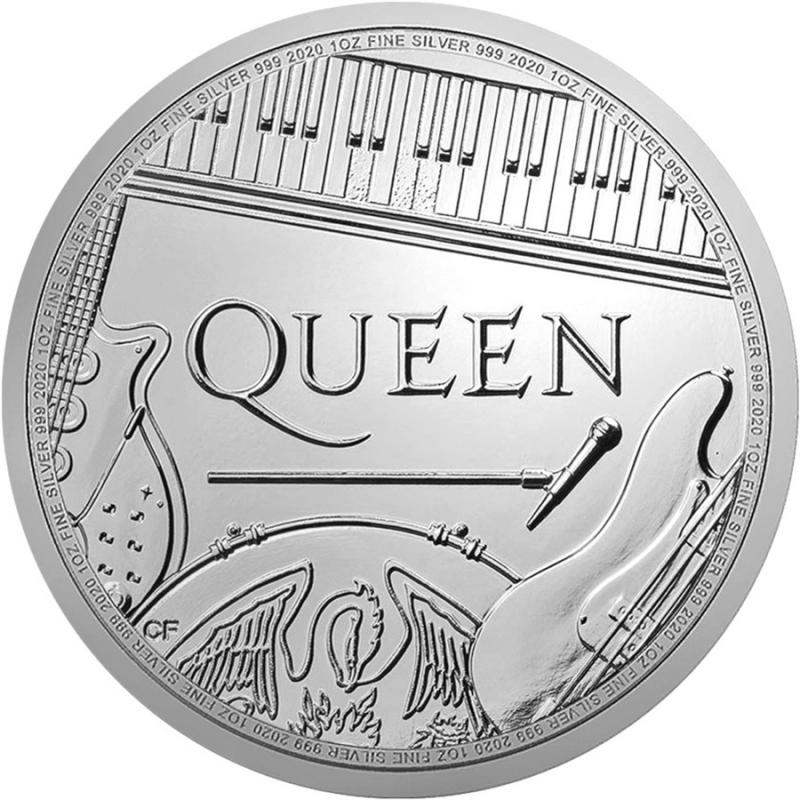 QUEEN 2020 UK £2 one ounce silver coin BU