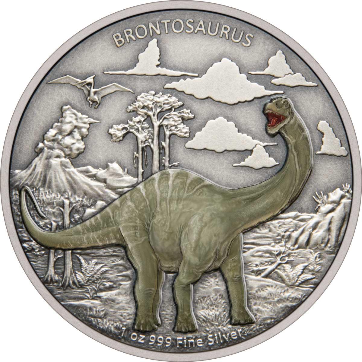 DINOSAURS: BRONTOSAURUS 2021 Niue 1oz silver coin