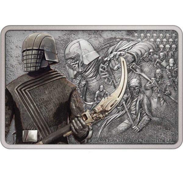 STAR WARS GUARDS OF THE EMPIRE: KNIGHTS OF REN 2021 Niue silver coin