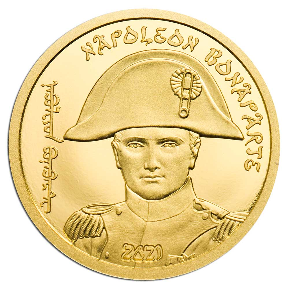 REVOLUTIONARIES: NAPOLEON BONAPARTE 2021 Mongolia 0.5g gold coin