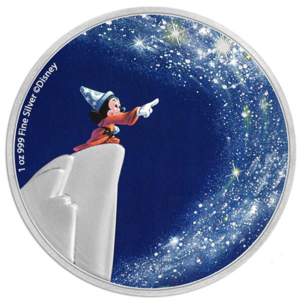 FANTASIA 80TH - THE SORCERER'S APPRENTICE 2021 Niue 1oz silver coin
