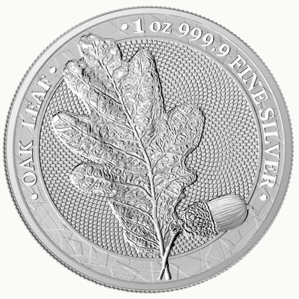 MYTHICAL FOREST: OAK LEAF - 2019 5 Mark 1oz silver BU