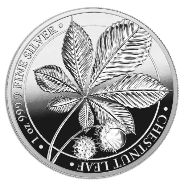 MYTHICAL FOREST: CHESTNUT LEAF - 2021 5 Mark 1oz silver proof