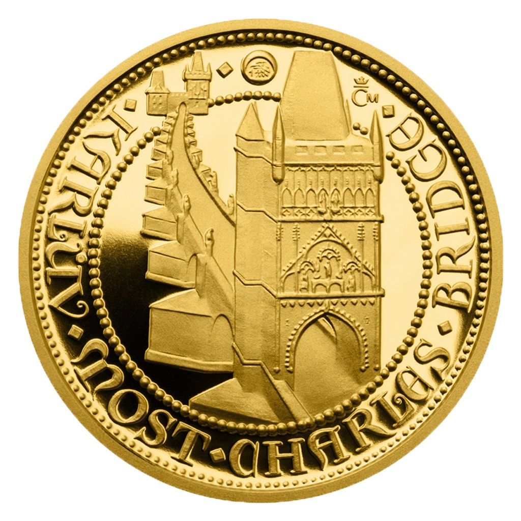 GOLDEN DUCAT CHARLES IV PERIOD 2014 Charles bridge 3.49g gold proof