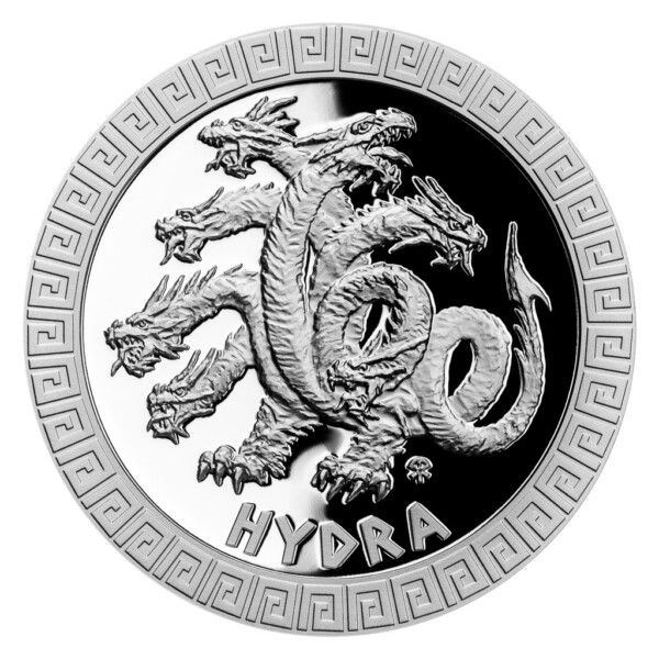 MYTHICAL CREATURES - HYDRA 2021 Niue 1oz proof silver coin