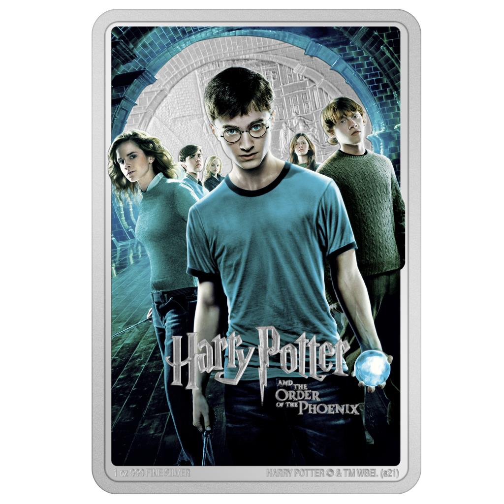 HARRY POTTER - AND THE ORDER OF THE PHOENIX 2021 Niue 1oz silver poster coin
