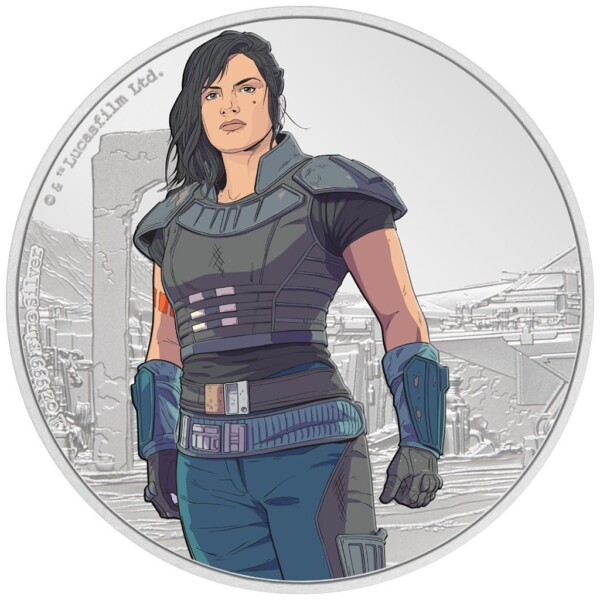 STAR WARS - THE MANDALORIAN CARA DUNE 2021 Niue silver coin