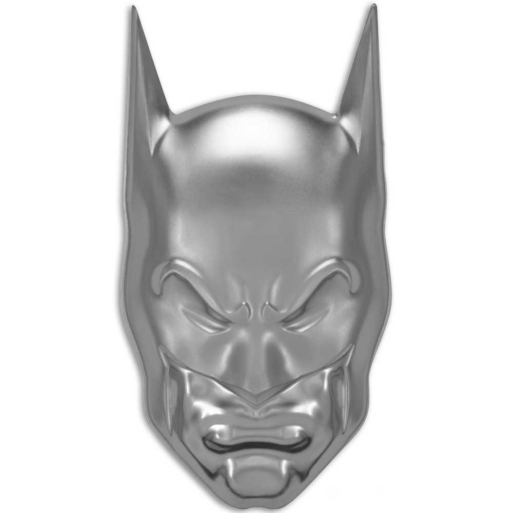 DC COMICS BATMAN'S COWL 2020 Niue 2oz high relief silver coin