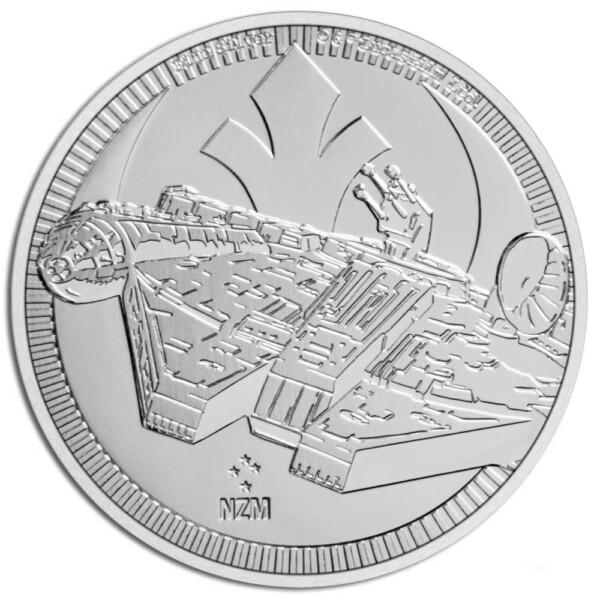 STAR WARS MILLENNIUM FALCON: 2021 Niue 1oz .999 silver coin