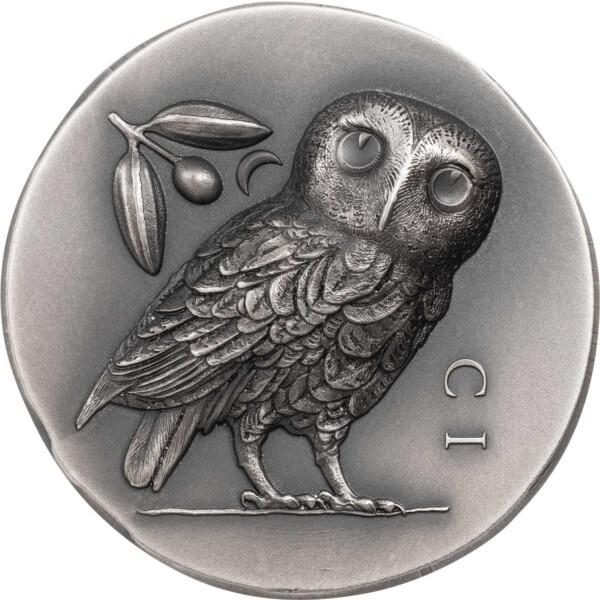 ATHENA'S OWL 2021 Cook Islands 1oz ultra high relief